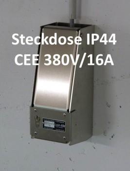 LOCK-EE, der abschliessbare Steckdosenkasten CEE 380V/16A IP44 ROT