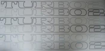 Satz Aufkleber TURBO2 in SILBER für Renault 5 TURBO2