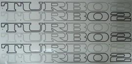 Satz Aufkleber TURBO2 in SCHWARZ für Renault 5 TURBO2