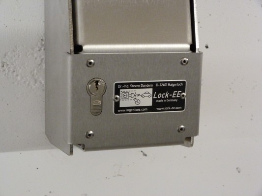 LOCK-EE, der abschliessbare Steckdosenkasten Schuko 230V IP54