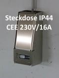 LOCK-EE, der abschliessbare Steckdosenkasten CEE 230V/16A IP44 BLAU